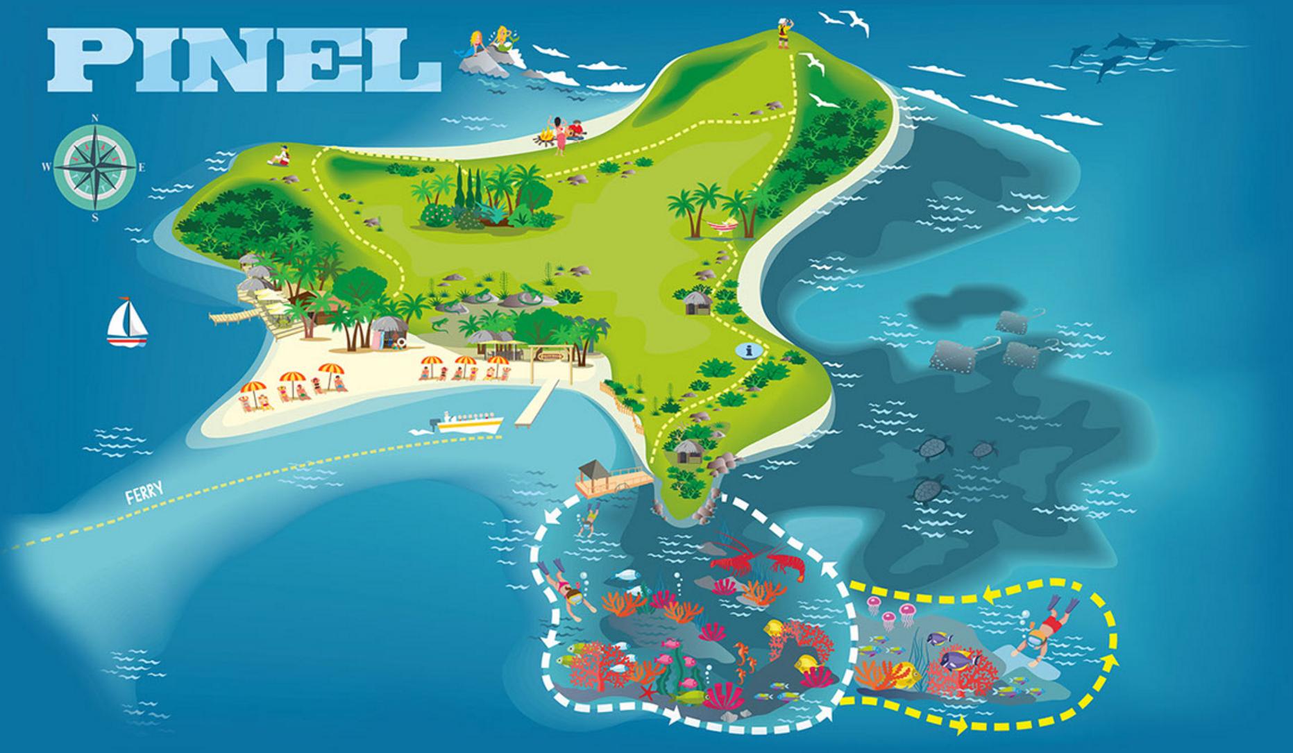 Snorkeling St Maarten Map