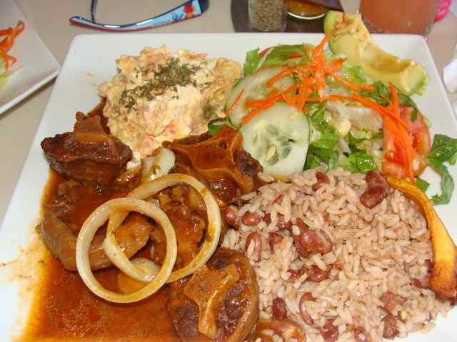 st maarten map food rice and peas